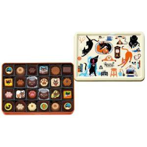 ゴンチャロフのチョコレートブランド、猫がモチーフの【アンジュジュ】