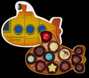 メリーチョコレートの【サブマリン・ジャーニー】はバレンタイン限定のチョコレート。魚や貝殻がモチーフのチョコレートはお子さんや海好きの男性にぴったりのチョコレートです。