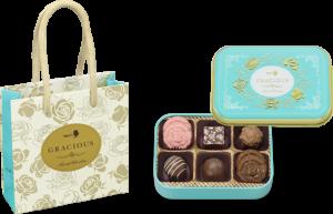 メリーチョコレート【グレイシャス】は薔薇などのモチーフや、宝石箱をイメージした華やかなチョコレートです。