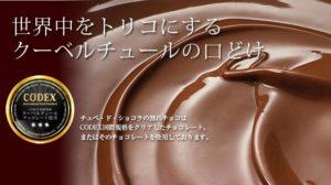 チュベドショコラの割れチョコにはクーベルチュールチョコレートがたっぷり使われている