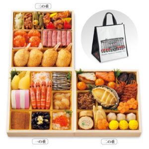日本橋高島屋限定、日本橋高島屋がリニューアルオープンした記念に発売された「日本橋おせち料理三段重」