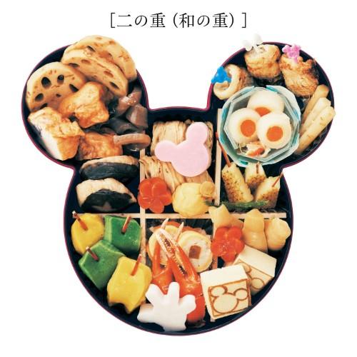 ベルメゾンのキャラクターおせち、ディズニーおせちの「ミッキーマウス三段重」の二段重