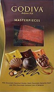 ゴディバのバレンタイン、義理チョコにおすすめのマスターピースシェアリングパックです。
