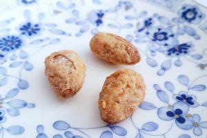 銀の森のクッキープティポワ150、冬、ウィンター缶に入っているクロカンナッツのアーモンド