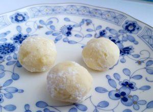 銀の森のクッキープティポワ150、冬、ウィンター缶に入っているブールドネージュ(ジンジャー)