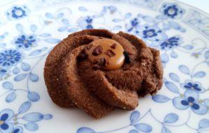 銀の森のクッキープティポワ150、冬、ウィンター缶に入っているエイコーンショコラ
